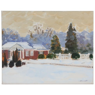 Murat Kaboulov Landscape Oil Painting, 2010