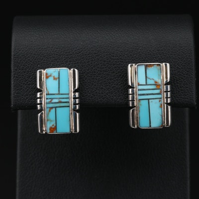 Southwestern Style Sterling Turquoise Earrings