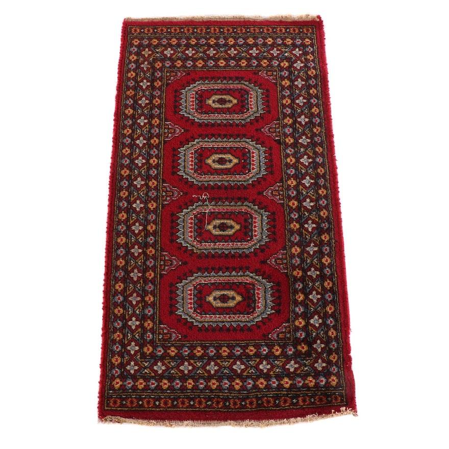 2'0 x 3'10 Machine Made Bokhara Style Wool Area Rug