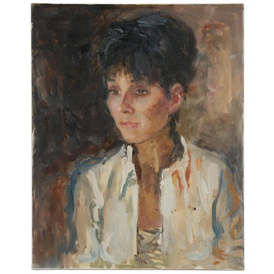 Murat Kaboulov Portrait Oil Painting, 21st Century