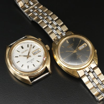 Seiko Gold Tone and Two Tone Automatic Watch and Wristwatch