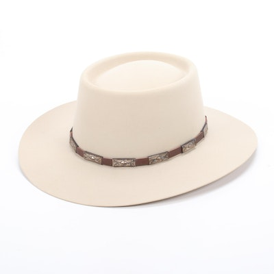 Stetson 10X Beaver Felt Brim Hat from Montecristi Custom Hat Works of Santa Fe