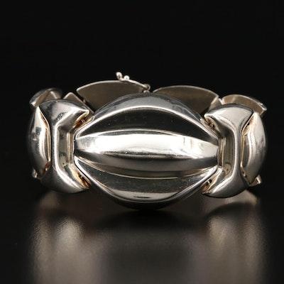Sterling Silver Panel Link Bracelet