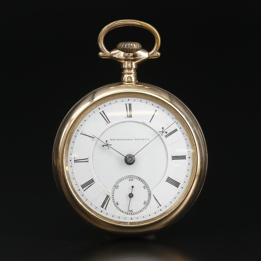 1885 - 1895 Non Magnetic Watch Co. Gold Filled Pocket Watch