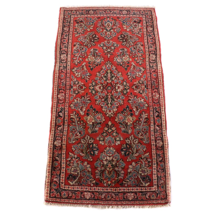 2'1 x 4'1 Hand-Knotted Persian Arak Wool Rug