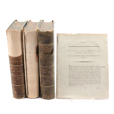 """1870 """"The Scottish Nation"""" with 1787 Article """"An Enquiry on Scots in Britain"""""""