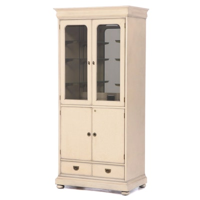 National Mt. Airy Lacquered Wood Illuminated China Cabinet, Late 20th Century