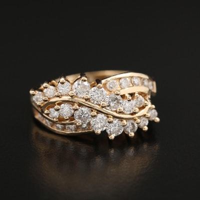 14K Yellow Gold 1.33 CTW Diamond Ring