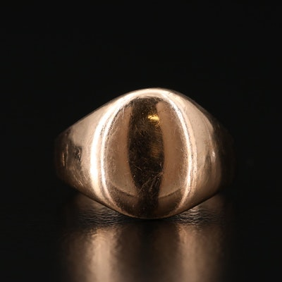 Vintage 14K Yellow Gold Signet Ring