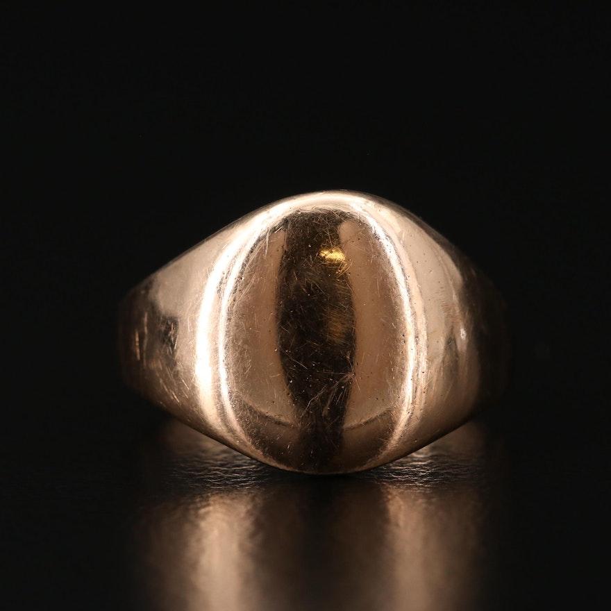 Vintage 14K Yellow Gold Signet Ring