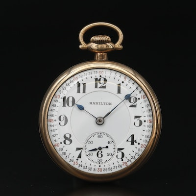 1921 Hamilton 992 Railroad Grade Gold Filled Pocket Watch