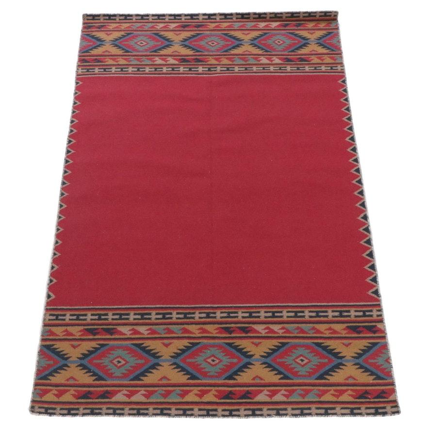 5'0 x 7'7 Handwoven Turkish Kilim Rug