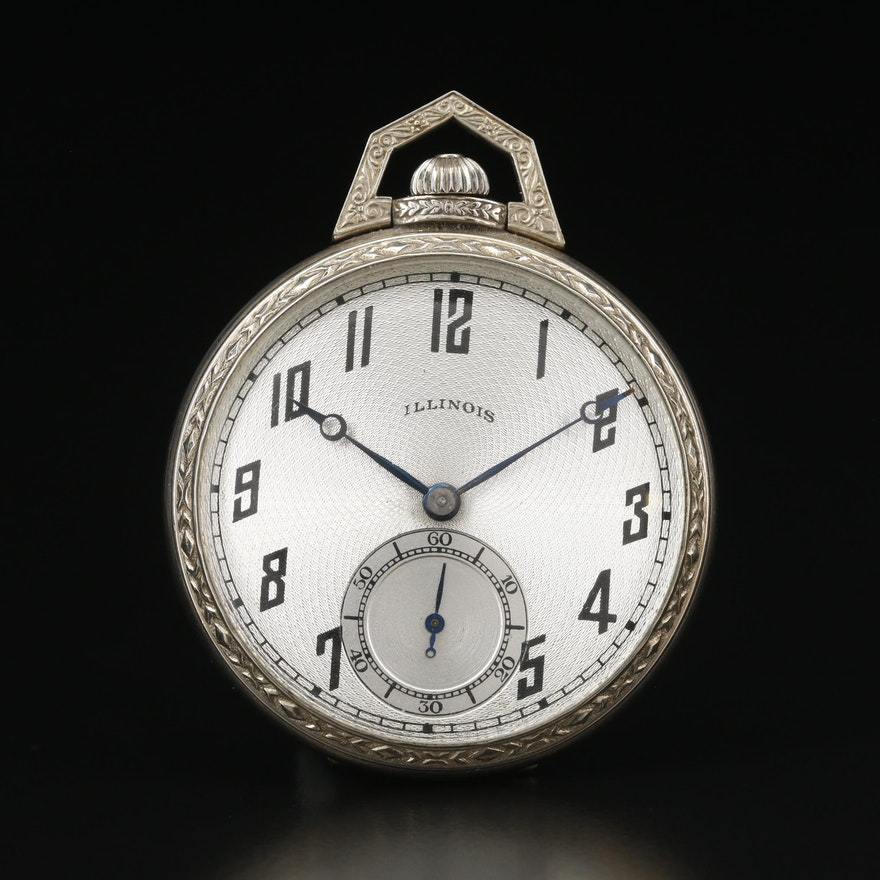 1922 Illinois 14K Gold Filled Pocket Watch