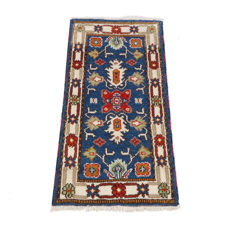 2'1 x 4'1 Hand-Knotted Indo-Caucasian Kazak Rug