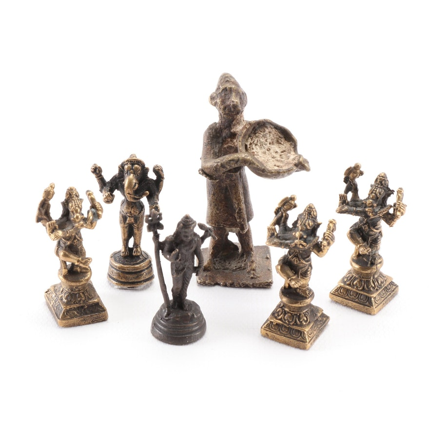 Brass and Metal Figurines featuring Ganesh