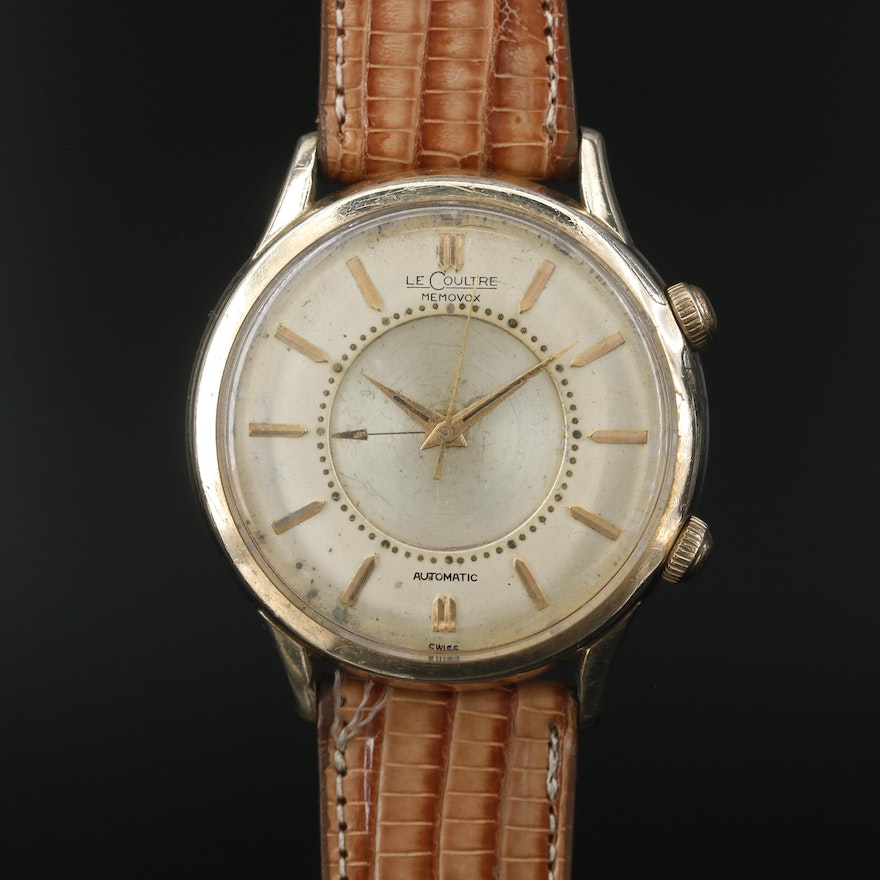 LeCoultre Memovox Gold Filled and Stainless Steel Automatic Wristwatch