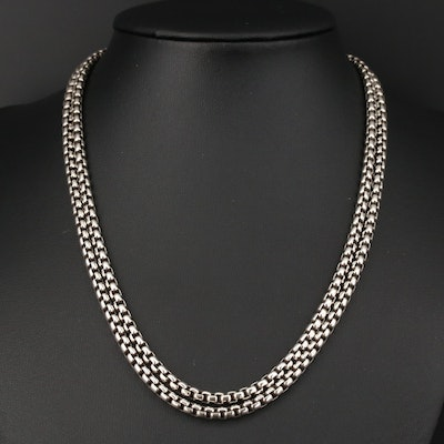 David Yurman Sterling Box Chain Necklace