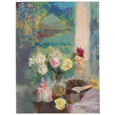 Murat Kaboulov Floral Still Life Oil Painting, 2006
