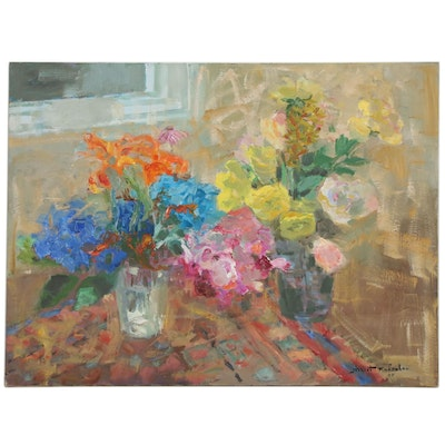 Murat Kaboulov Floral Oil Painting, 2007