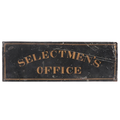 "New England Painted ""Selectmen's Office"" Sign"