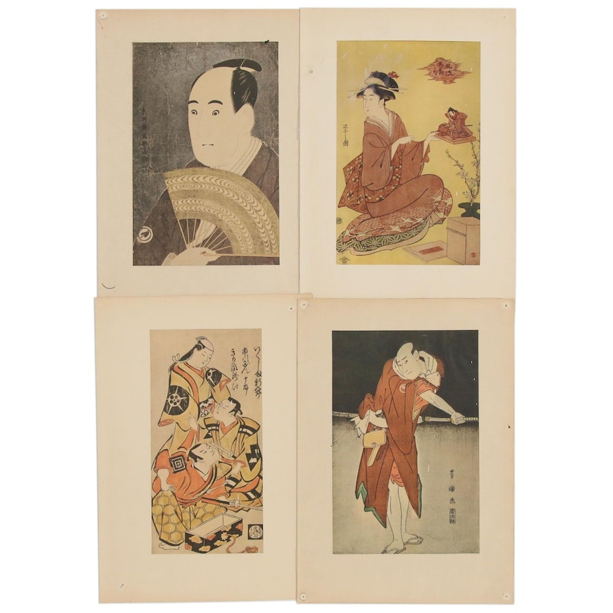 Offset Lithographs After Japanese Woodblocks