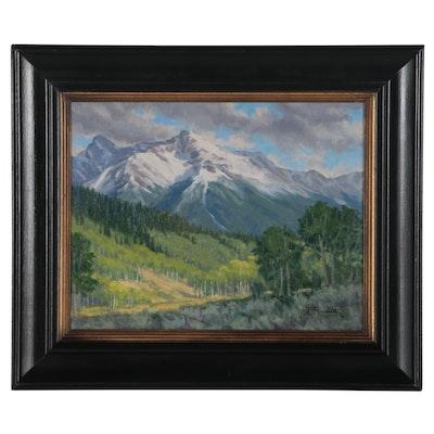 "Tom Lockhart Plein Air Landscape Oil Painting ""Summer's Arrival"", 2004"