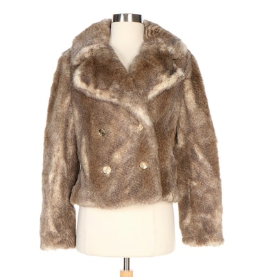 Juicy Couture Faux Fur Double-Breasted Jacket