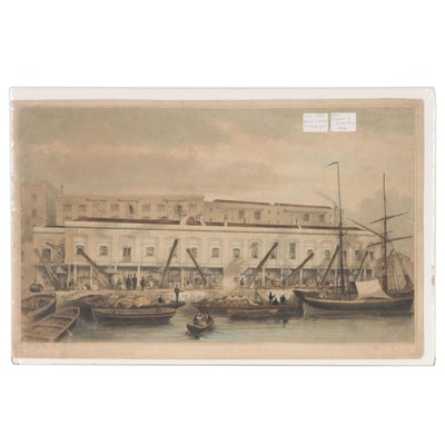 Hand-colored Lithograph After Thomas Hosmer Shepherd, Mid 19th Century