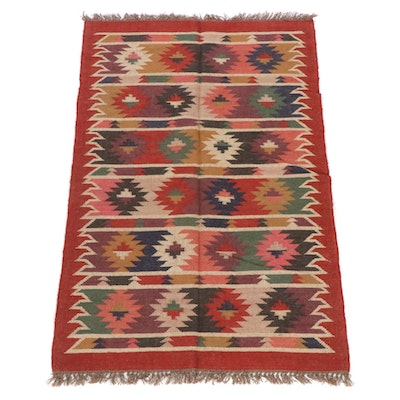 4'1 x 6'5 Handwoven Turkish Kilim Rug