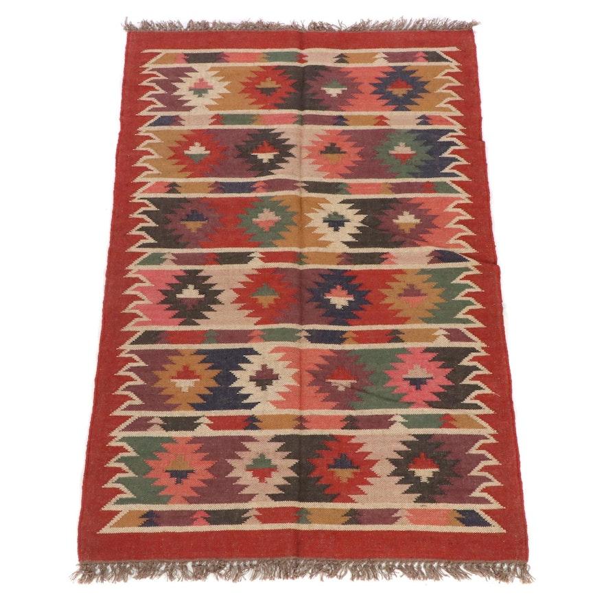 4'1 x 6'5 Handwoven Turkish Kilim Rug