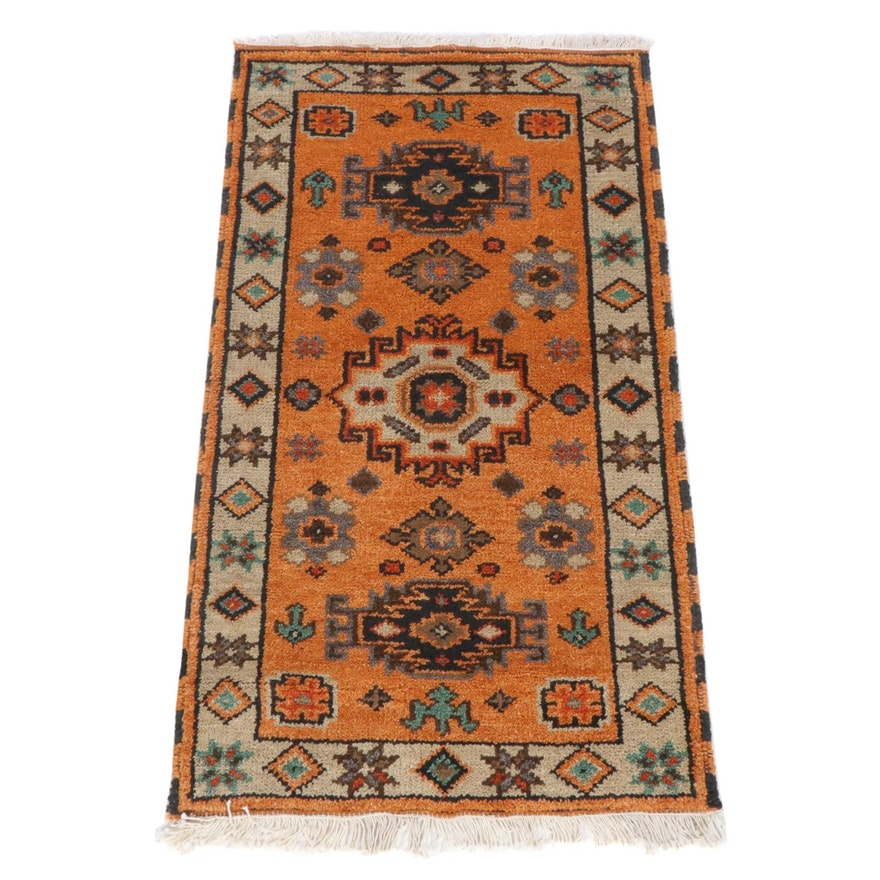 2'3 x 4'3 Hand-Knotted Indo-Caucasian Kazak Rug