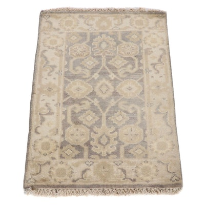 2'3 x 3'3 Hand-Knotted Indo-Turkish Oushak Rug