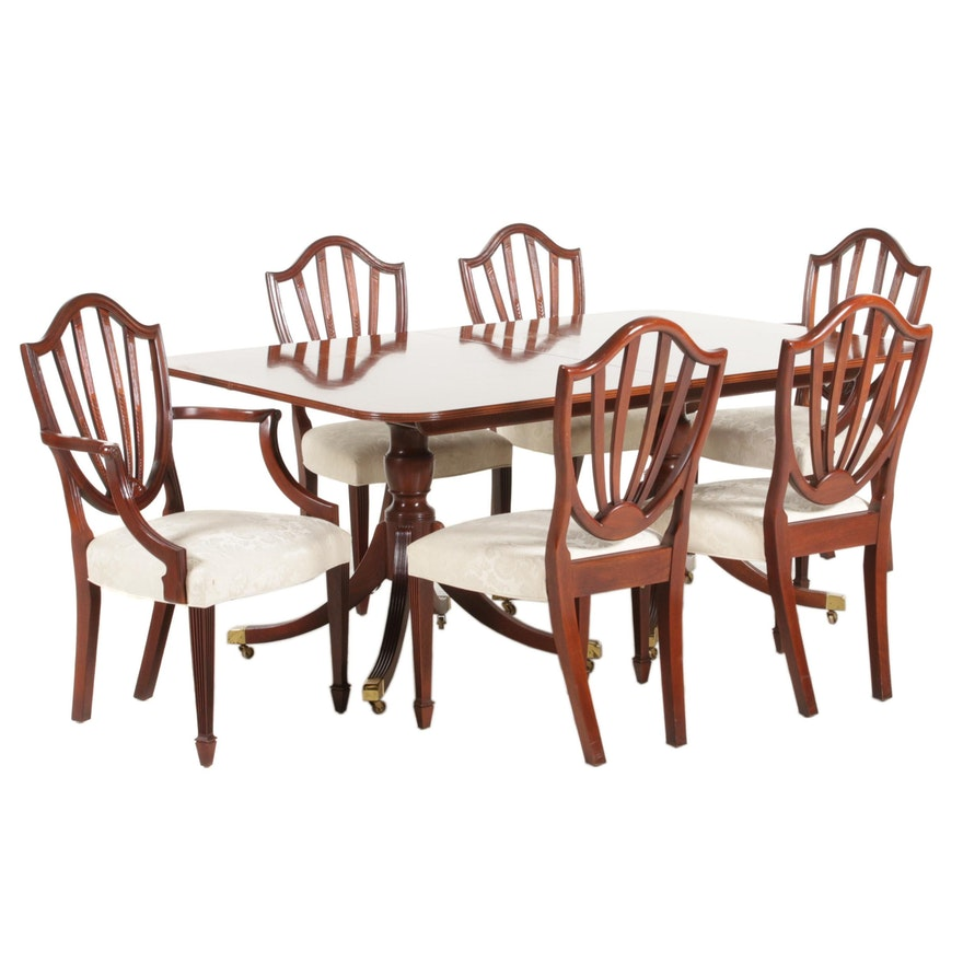 """Baker Furniture """"Historic Charleston"""" Dining Table and Chairs"""