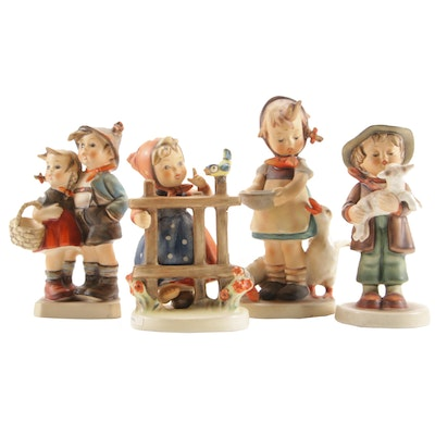 "M.I. Hummel Porcelain Figurines Including ""Signs of Spring"""