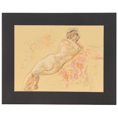 Murat Kaboulov Nude Figure Pastel Drawing