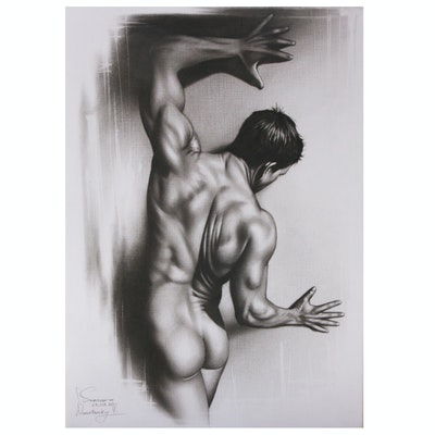 Oil Painting of Male Figure