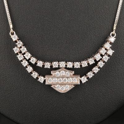 Syd Curtis for Harley Davidson 14K Gold 1.81 CTW Diamond Necklace