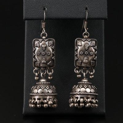 Sterling Silver Dangle Geometric Earrings