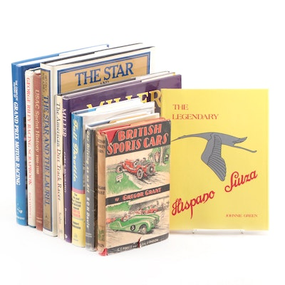 "First Printing ""The Legendary Hispano Suiza"" by J. Green with More Car Books"