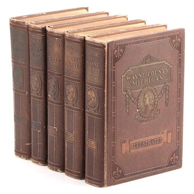 "1930 ""History of Wayne County and the City of Detroit, Michigan"", Volumes I-V"