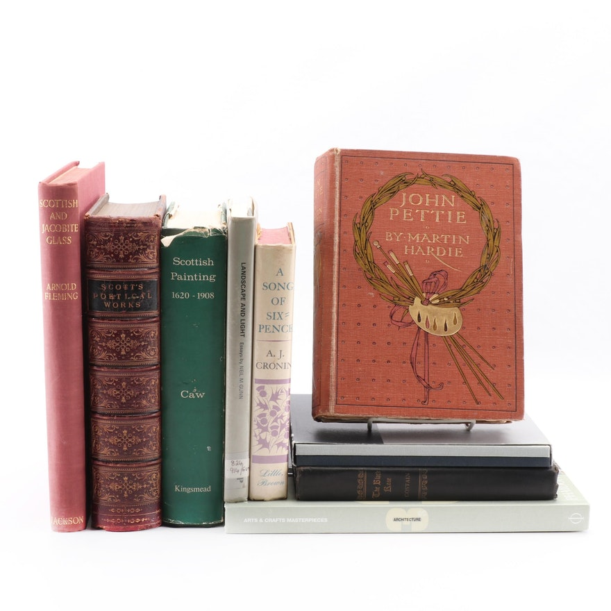 """Collection of Scottish Poetry, Prose and Painting Books including """"John Pettie"""""""