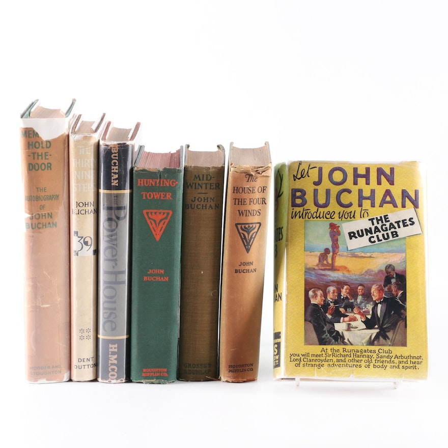 John Buchan Book Collection including First Editions and Autobiography