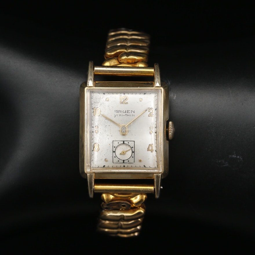 Late 1940's Gruen Veri-Thin 10K Gold Filled Wristwatch