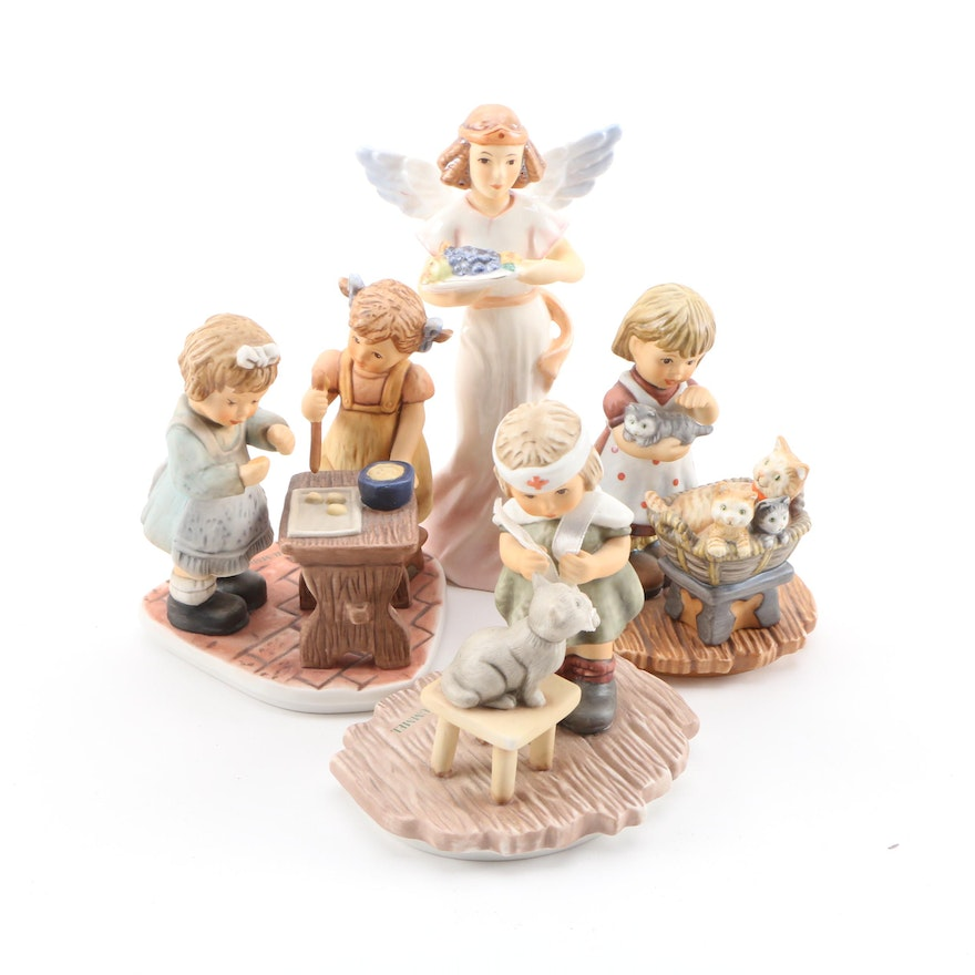 """Goebel """"Tender Loving Care"""", """"Baking Cookies"""" and Other Porcelain Figurines"""