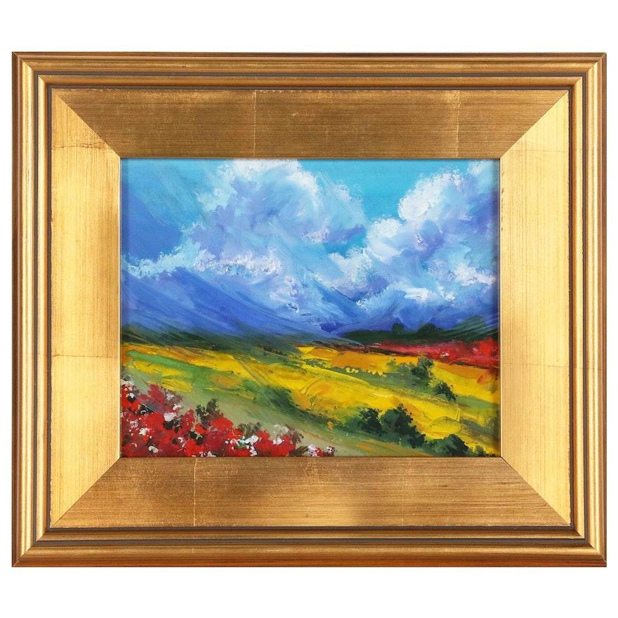 Oil Painting of Landscape Scene