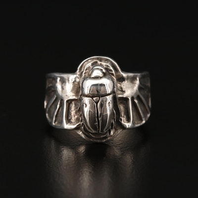 Sterling Silver Scarab Ring