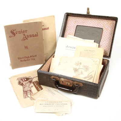 Sketches, Writings, and Yearbook Collection in Case, 1890s-1920s