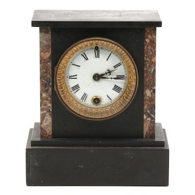 Ansonia Co Slate Mantel Clock, Late 19th Century