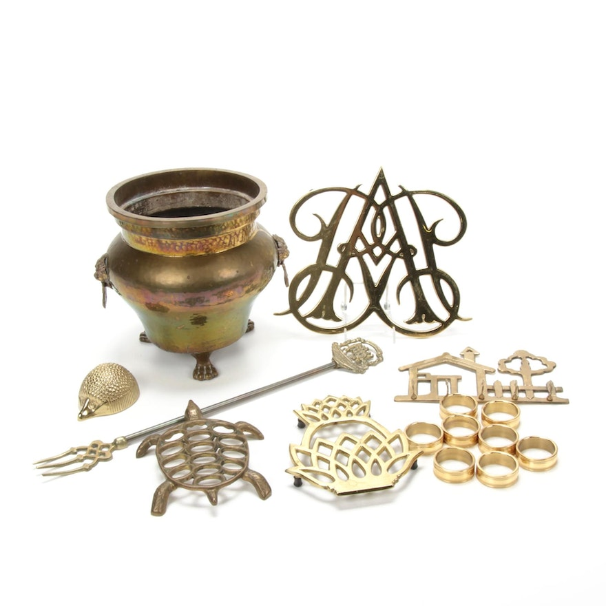 Brass and Gold-Tone Table Accessories, Vintage