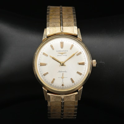 Longines Grand Prize Automatic Gold Filled and Stainless Steel Wristwatch